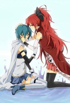 Sayaka and Kyoko