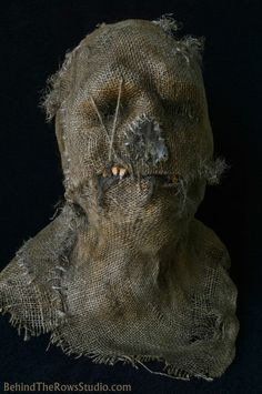"Scarecrow mask I made called ""Cornfed"""