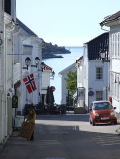 Lillesand, Norway - my high school town, remembering walking from school down to catch the bus while enjoying awesome bakery treats