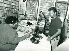 """WWOZ DJ Brown Sugar and Dwayne Breashears. Dylan - """"My favorite DJ, hands down, was Brown Sugar, the female disc jockey. She was on in the midnight hours, played records by Wynonie Harris, Roy Brown, Ivory Joe Hunter, Little Walter, Lightnin' Hopkins, Chuck Willis, all the greats. She used to keep me company a lot when everyone else was sleeping. Brown Sugar, whoever she was, had a thick, slow, dreamy, oozing molasses voice"""""""