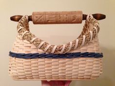 Rolling pin handle basket made by Jen Storey