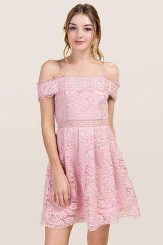 francesca's civil bachelorette shower engagement Addie Crochet Lace A-line Dress