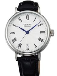 Orient ER2K004W Soma Automatic Dress Watch with a stainless steel case and white dial.