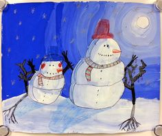 Art with Mrs. Nguyen: The Most Wonderful Time of the Year - Winter Value Landscapes! (2nd)