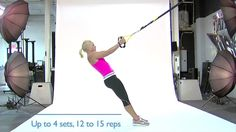 """Jen Sinkler, senior fitness editor for Experience Life magazine, demonstrates a TRX """"Y"""" deltoid fly. Read more about TRX suspension training at http://j.mp/b..."""