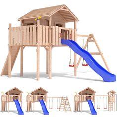 COLINO Spielturm Stelzenhaus Baumhaus Holzspielhaus Rutsche Schaukel Gartenhaus | eBay