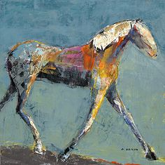 """Boomerang by Dominique Samyn Print on wood (Giclee) with layer of resin ~ 12"""" x 12"""""""