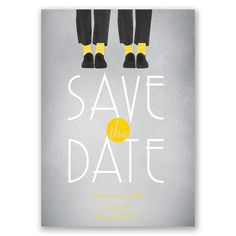 Dancing Shoes Mr and Mr Save the Date Card | Invitations By Dawn