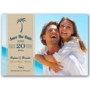Palm Tree Photo Save the Date Magnets   PaperStyle