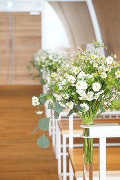 #VressetRose #Wedding #white #chapel #Flower #Bridal #結婚準備#ブレスエットロゼ #ウェディング #白#チャペル #ガーデン#アーチ# 花 # ブライダル#教会 #バージンロード#フラワー#マトリカリア#小花#ナチュラル#ユーカリ