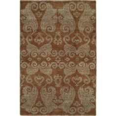 Nirvana Hazelnut Wool and Viscose Hand-knotted Area Rug (2'6 x 10') (NR-933 2610), Brown, Size 2'6 x 10'
