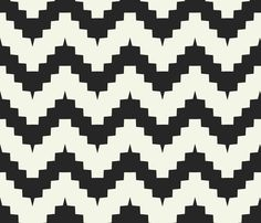 chevron black and white fabric by ravynka on Spoonflower - custom fabric