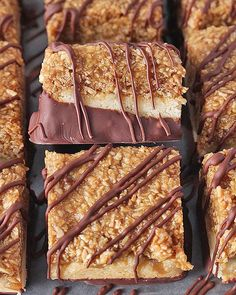 These Paleo Samoa Cookie Bars are just like the popular Girl Scout Cookies, but homemade and healthier! Gluten free, dairy free, and so delicious! Are you familiar with Samoa cookies? They are a shortbread base topped with caramel and toasted coconut and drizzled with chocolate. They are also known as Caramel deLites and according to...Read More »