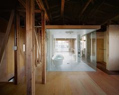 house in okusawa   bathroom ~ schemata architects