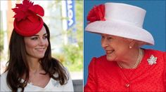 Kate Middleton and the Queen, both in the maple leaf brooch.