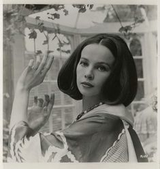 Cecil Beaton, Portrait of Leslie Caron, 1958 - promotional shots he took for her film 'The Doctor's Dilemma' in the Winter Garden, Reddish