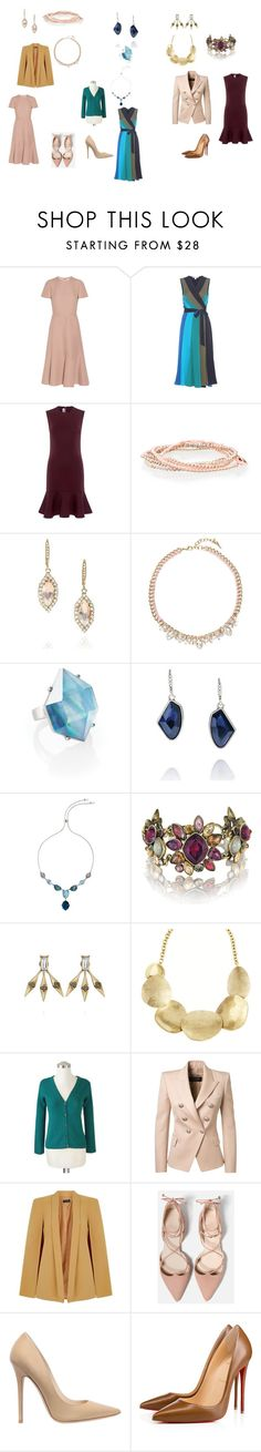 """""""spring  Business Looks For women"""" by tabithabighem on Polyvore featuring Valentino, Diane Von Furstenberg, McQ by Alexander McQueen, Chloe + Isabel, NOVICA, Balmain, Miss Selfridge, Jimmy Choo and Christian Louboutin"""