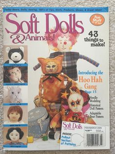 SOFT DOLLS /& ANIMALS~January 2004 cloth doll patterns~techniques~tips magazine