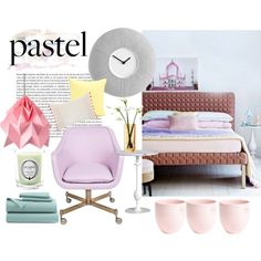 A Sweet Pastel Bedroom - Polyvore