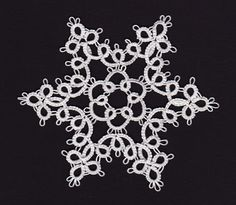 My crafty ways. Needle Tatting Patterns, Crochet Snowflakes, Snowflake Designs, Applique Patterns, Make Your Own, Free Pattern, Projects To Try, Crafty, Lace