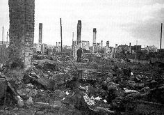 Kaunas/Kovno, Lithuania. The completely destroyed Ghetto, 1944  In July 1944, the Germans blew up and burned down this Ghetto  in search of Jews in hiding there.
