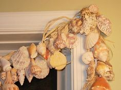 No fabric or sewing needed for this easy to make seashell window treatment. Step by step photo tutorial