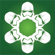 Captain Phasma Star Wars Snowflake from The Force Awakens