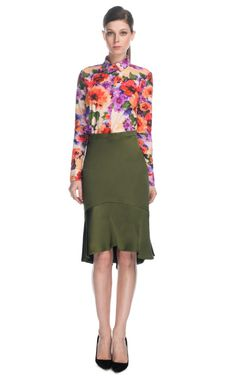 Satin Flare Skirt by Patrícia Viera for Preorder on Moda Operandi