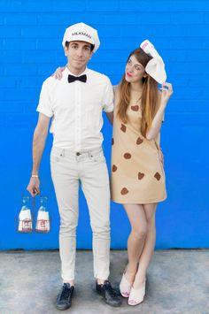 DIY Cookies + Milk Couples Costume   studiodiy.com