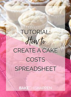 I've talked recently about tracking your numbers in your cake business and why that is important. To recap - if you don't have a clear picture of what your business income is, how can you grow? Bakery Business Plan, Baking Business, Cake Business, Catering Business, Business Planner, Business Logo, Business Ideas, Cake Decorating Techniques, Cake Decorating Tips