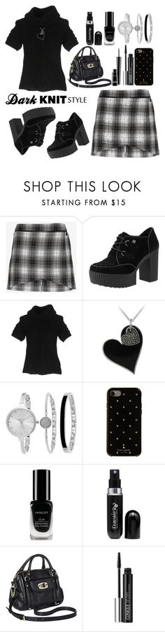 """Preppy Goth Girl"" by lkeishal ❤ liked on Polyvore featuring Robert Rodriguez, Yuni, Diesel, Glitzy Rocks, SO & CO, Kate Spade, Inglot, Travalo, Merona and Clinique"