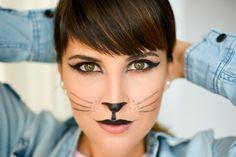 cat makeup for Halloween