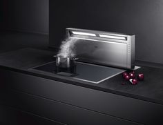 Extractors | Kitchen appliances | Ventilation 400 series. Check it out on Architonic Open Kitchen Layouts, Modern Kitchen Island, Kitchen Islands, Kitchen Ideas, Kitchen Hoods, Toy Kitchen, Kitchen Dinning, Kitchen Extractor Fan, Extractor Fans