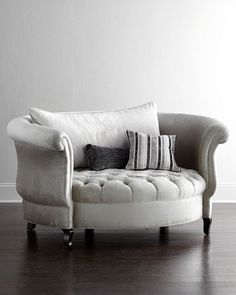 Harlow Cuddle Chair by Haute House at Horchow.this cuddle chair is adorably sexy.