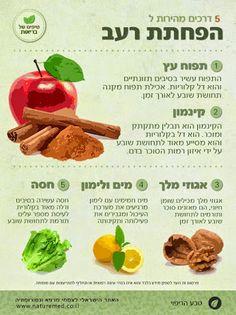 כמה מזונות היכולים לסייע בהפחתת תחושת הרעב.  קראו עוד על תזונה, נטורופתיה וצמחי מרפא: http://www.naturemed.co.il/