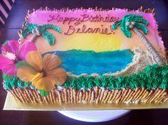 luau ocean cakes   Luau cake