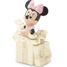 LENOX Figurines: Mickey & Friends - Disney's Minnie's Surprise Gift Figurine