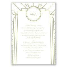 Best Impression Wedding Invitation | Art Deco Wedding Invites | Wedding Stationery at Invitations By Dawn