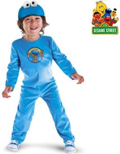 Cookie Monster Kids Costume Cookie Monster Kids Costume Mmmmm cooooooookie! Do you lose it every time you see a soft, delicious cookie? Then it looks like the Child's Cookie Monster Halloween Costume is made just for you! The Cookie Monster Halloween Costume is fully licensed by Sesame Street and is totally cute! This has a plush blue bodysuit and even a screen print of Cookie Monster on the front! To complete the theme, this also comes with a Cookie Monster headpiece, with whi..