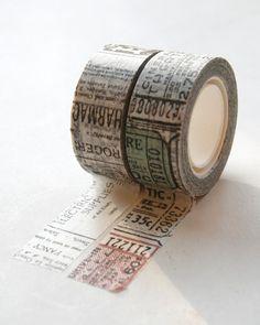Tim Holtz Tissue Tape  Journeyman  2 Rolls 16 Yards by InTheClear, $8.35