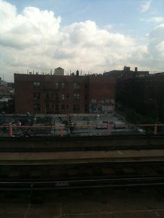 Graffiti along the 7 train line to Queens