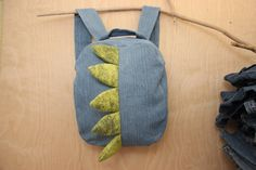 Dragon backpack , dragon bag , recycled denim backpack , jeans kids toddler backpack , animal backpack , denim bag , childrens backpack by SecondBirthday on Etsy