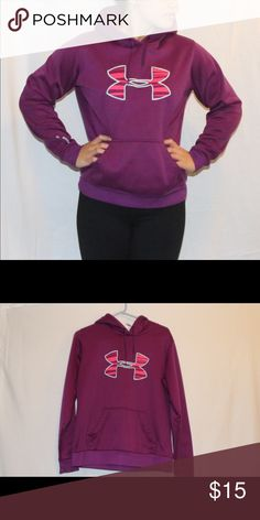 Under Armour Hoodie Purple w/ pink Under Armour hoodie. Under Armour Jackets & Coats