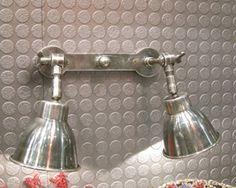 Double applique murale spot en nickel Chehoma