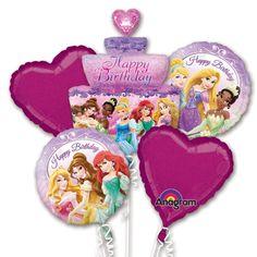 Folienballon-Bouquet-Disney-Princess-zum-Kindergeburtstag-5-Luftballons-Geschenk