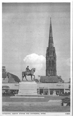 godiva statue in broadgate Coventry England, Coventry City, Lady Godiva, Photographs And Memories, Places Of Interest, Old City, Wales, Places To Visit, Statue