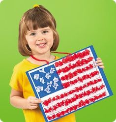 A Flag Day Craft Project - free template and directions from Lakeshore Learning