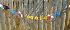 Custom Graduation Banner - Choose Your Colors  by HookedonArtsNCrafts on Etsy