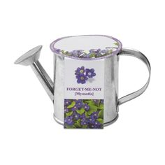 Mini garden watering can. Pour water in the soil substrate to grow wonderful 'Forget me not' flower.    Call Us for Details: 0845 402 2020