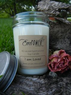 All natural soy wax candle  Rose  Empower by EmPowerCompany, $14.75